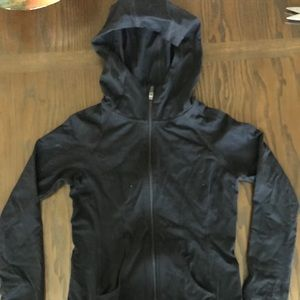 Black spandex zip up sweatshirt